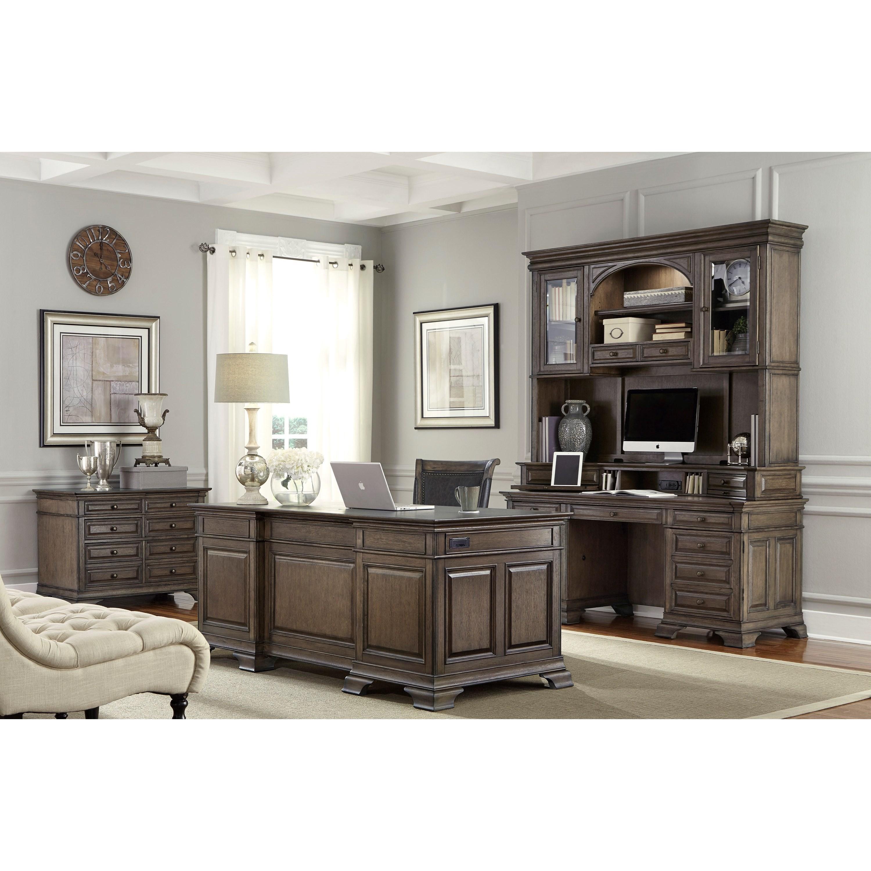 """Ashley Furniture Arcadia: Aspenhome Arcadia 72"""" Executive Desk"""