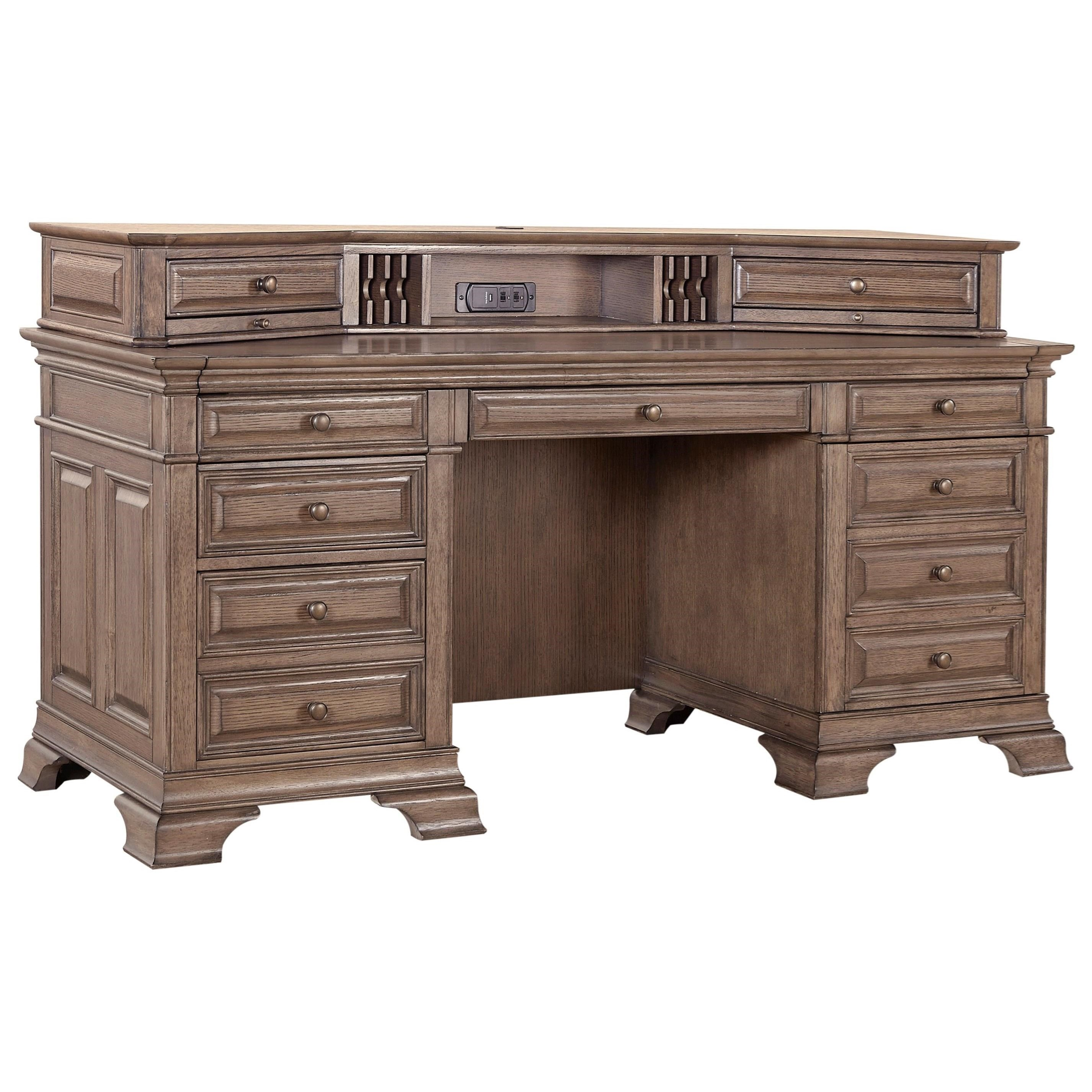 "72"" Credenza Desk with Sliding Top"