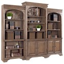 "Morris Home Furnishings Arcadia 84"" Bookcase Wall Console - Item Number: I92-332+333+336"
