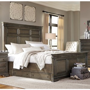 Aspenhome Arcadia Queen Panel Storage Bed