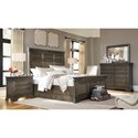 Morris Home Furnishings Arcadia Queen Panel Storage Bed with USB Charging Stations