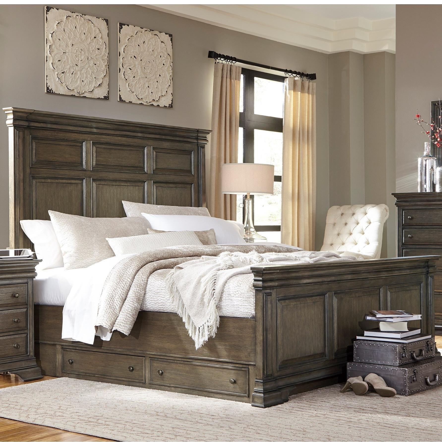 Aspenhome Arcadia King Panel Storage Bed - Item Number: I92-415-416-406-497
