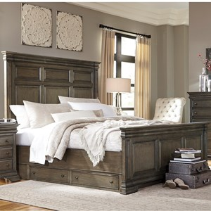 Aspenhome Arcadia King Panel Storage Bed