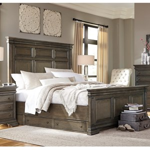 Morris Home Furnishings Arcadia California King Panel Storage Bed