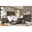 Morris Home Furnishings Arcadia California King Panel Storage Bed with USB Charging Stations