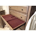 Aspenhome Arcadia 5 Drawer Chest with Top Felt-Lined Drawer