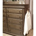 Aspenhome Arcadia 10 Drawer Gentleman Chest  with Felt-Lined Top Drawers