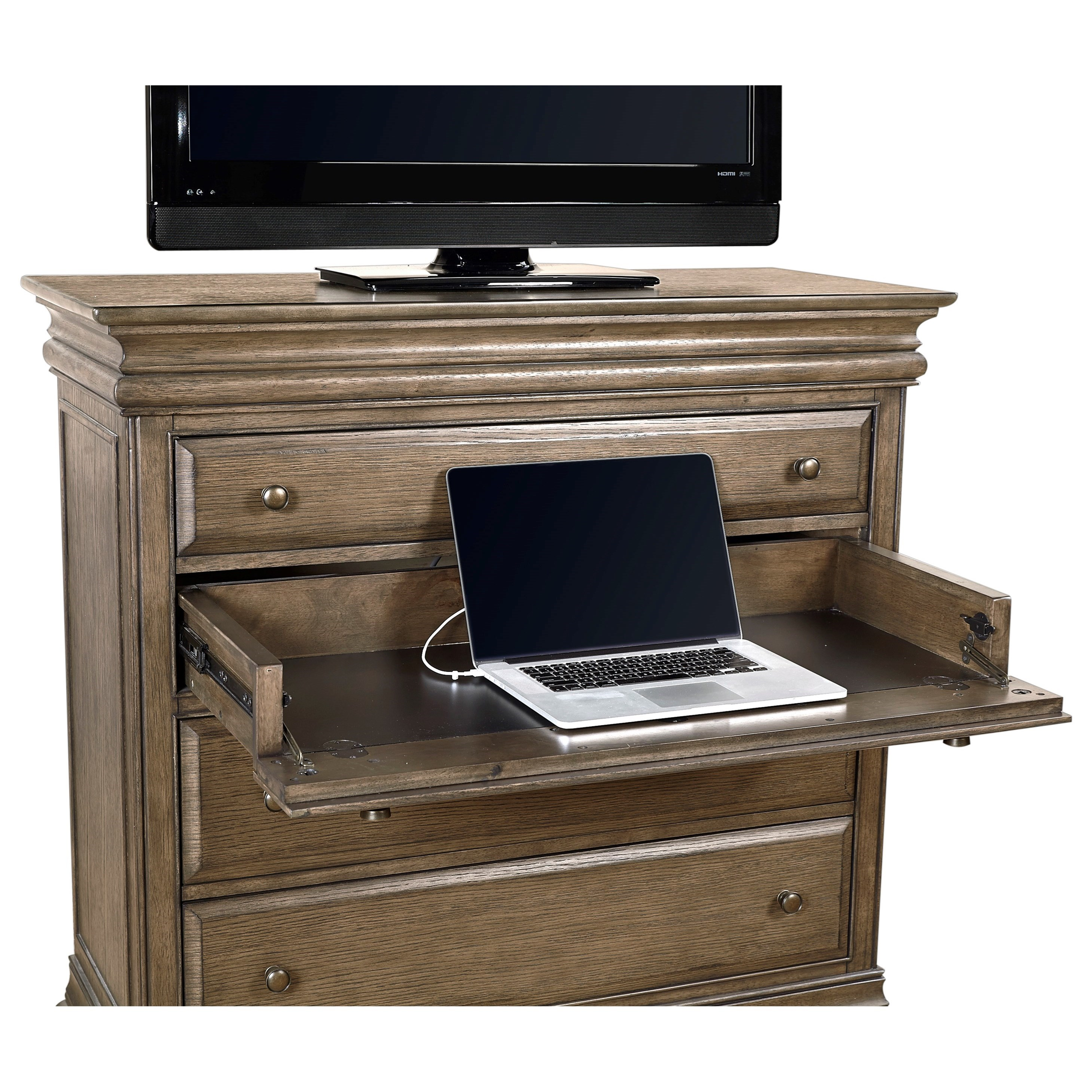 Aspenhome Arcadia Media Chest With Outlets Belfort Furniture Media Chests