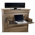 Morris Home Furnishings Arcadia Media Chest with Outlets
