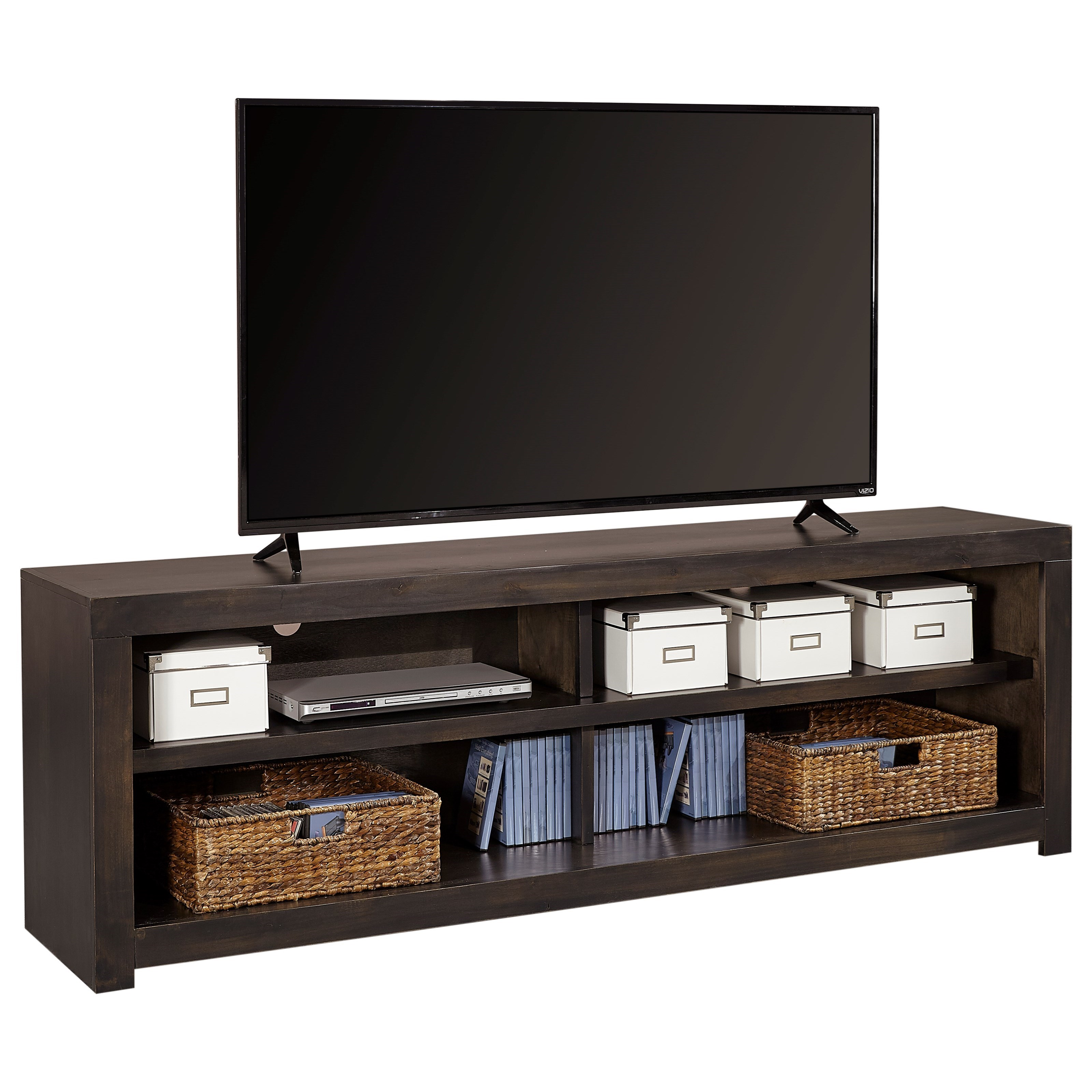 "Avery Loft 74"" TV Console by Aspenhome at Walker's Furniture"