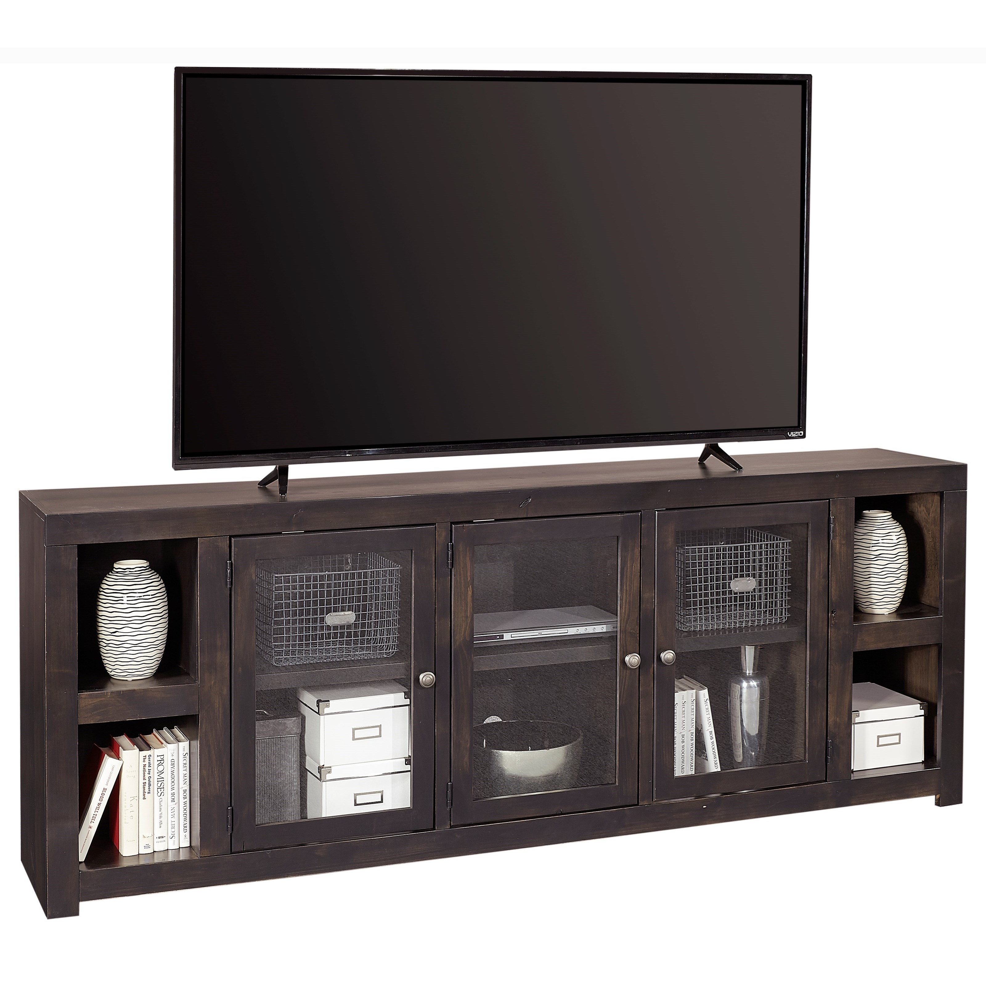 "Avery Loft 84"" TV Console by Aspenhome at Baer's Furniture"