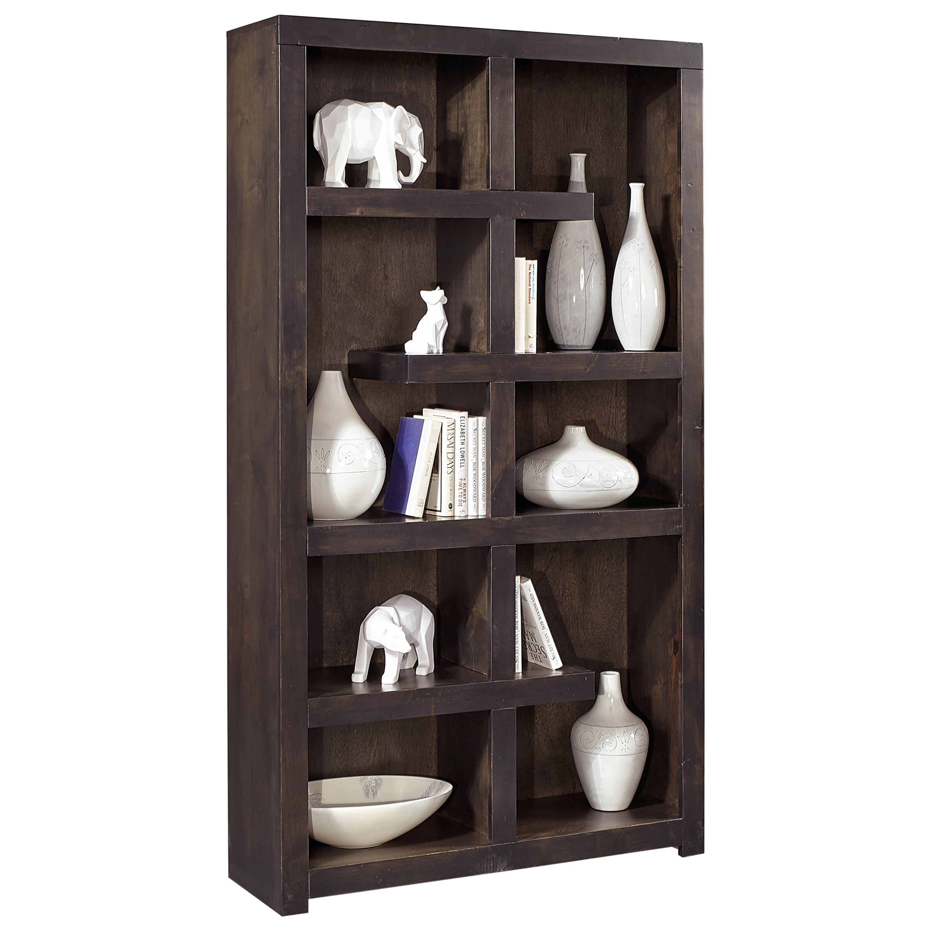 "Avery Loft 76"" Open Book Case by Aspenhome at Walker's Furniture"