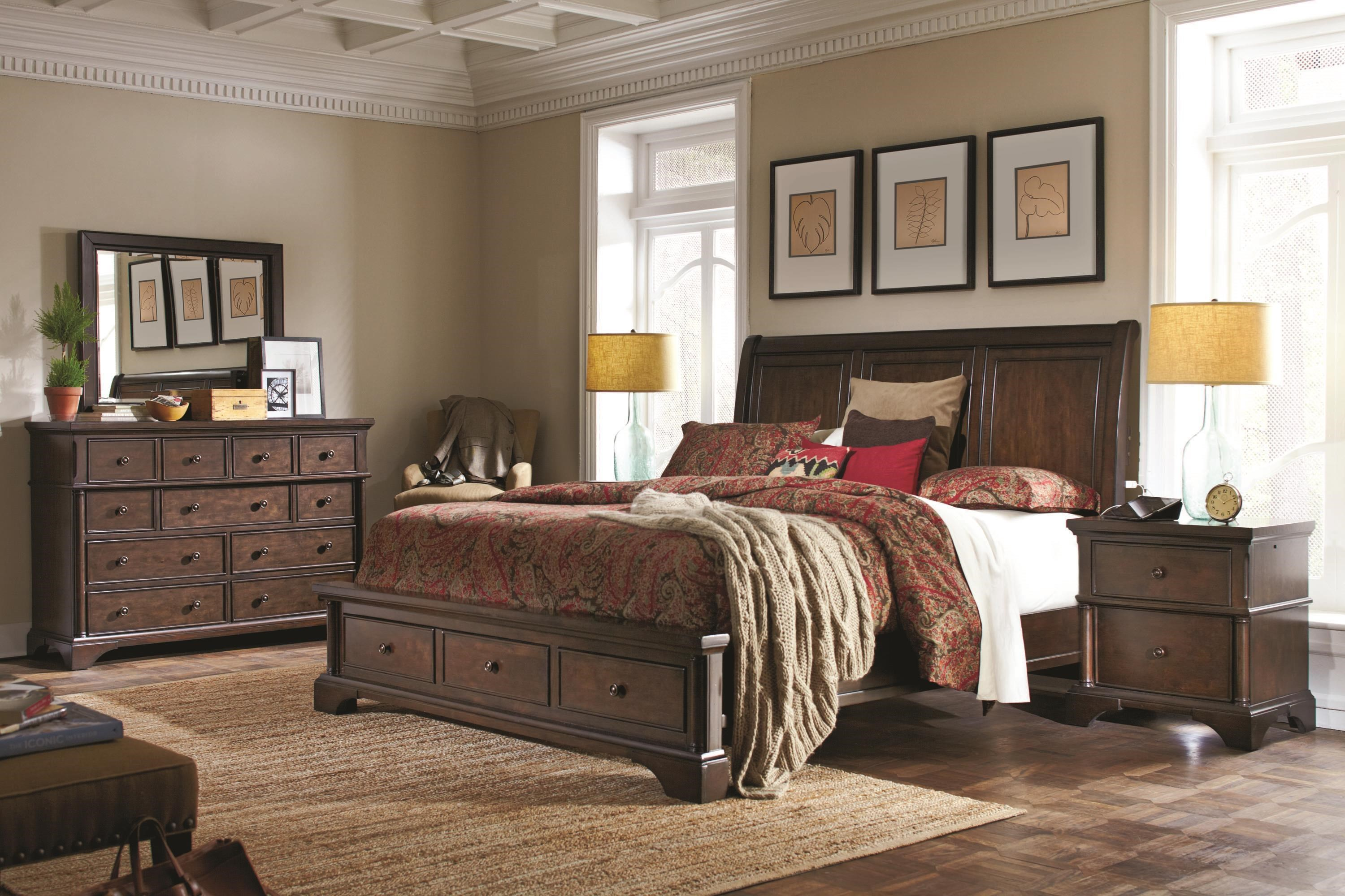 Bancroft 4 Piece Queen Storage Bedroom Group by Aspenhome at Walker's Furniture