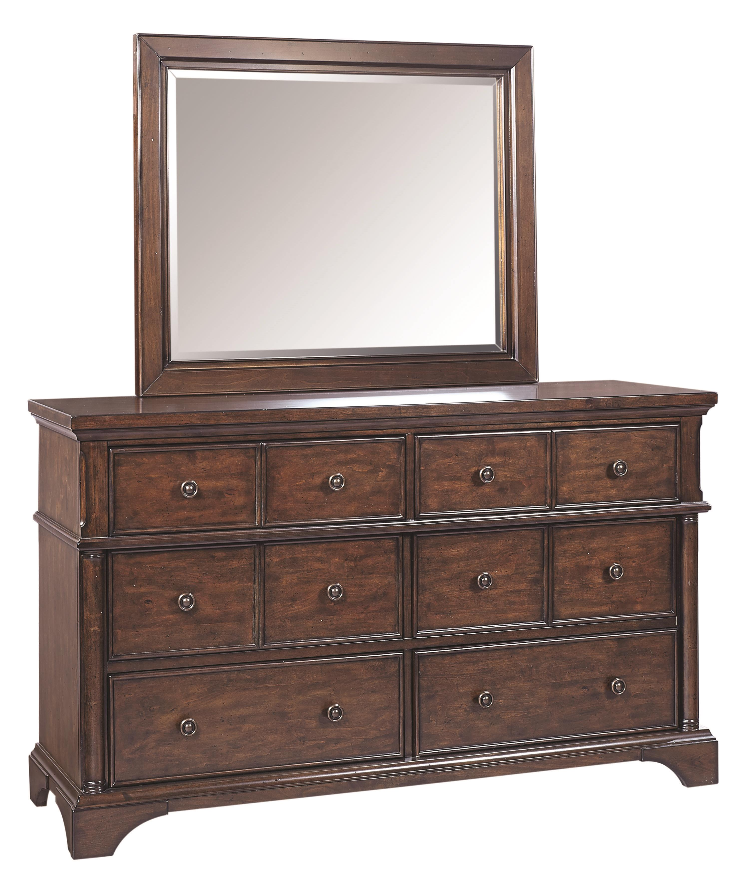 Aspenhome Bancroft Dresser and Mirror - Item Number: I08-453+463