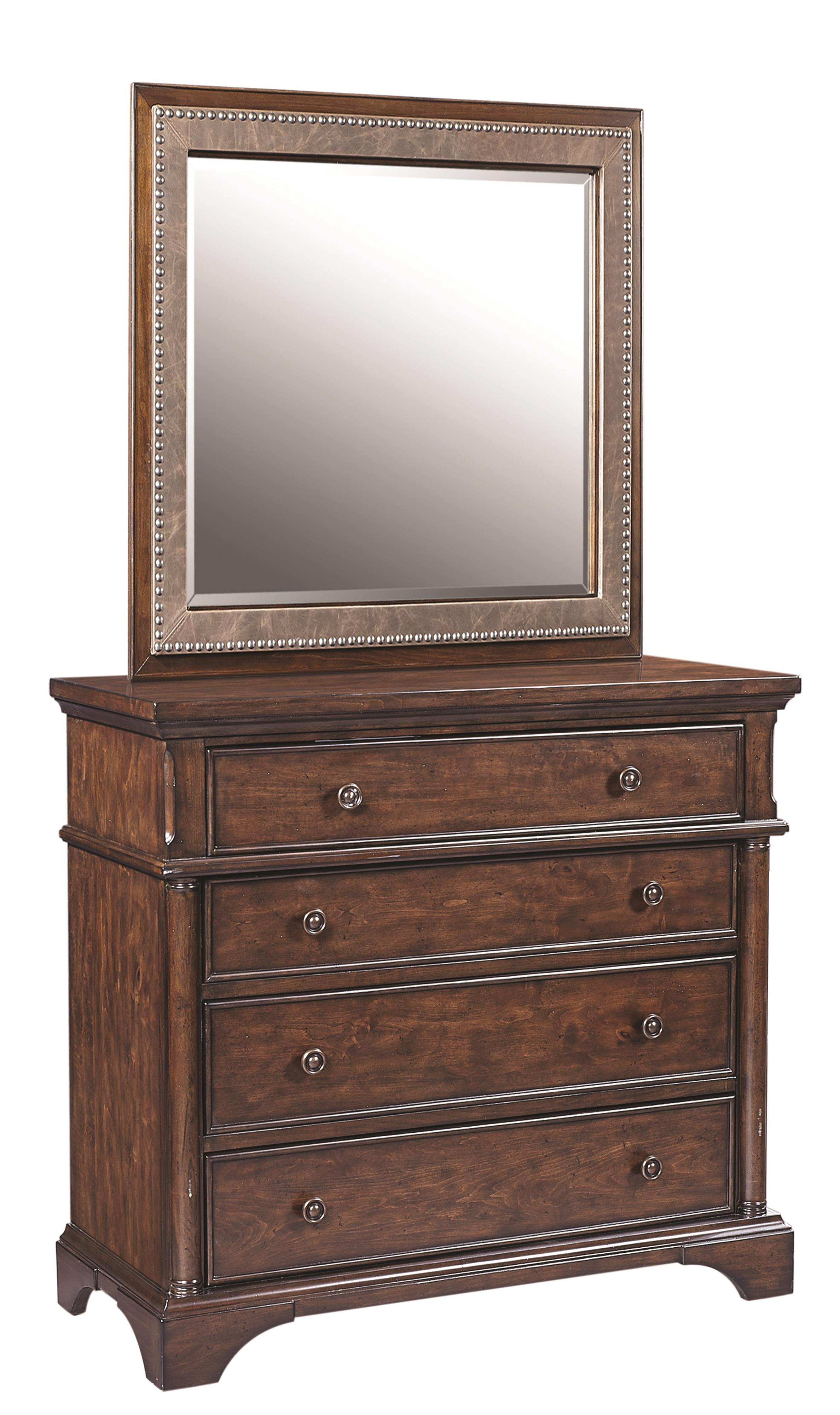 Aspenhome Bancroft Liv360 Entertainment Chest and Mirror - Item Number: I08-486+464