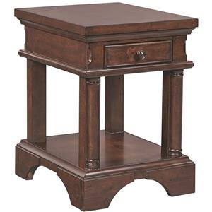 Aspenhome Bancroft Chairside Table with Power