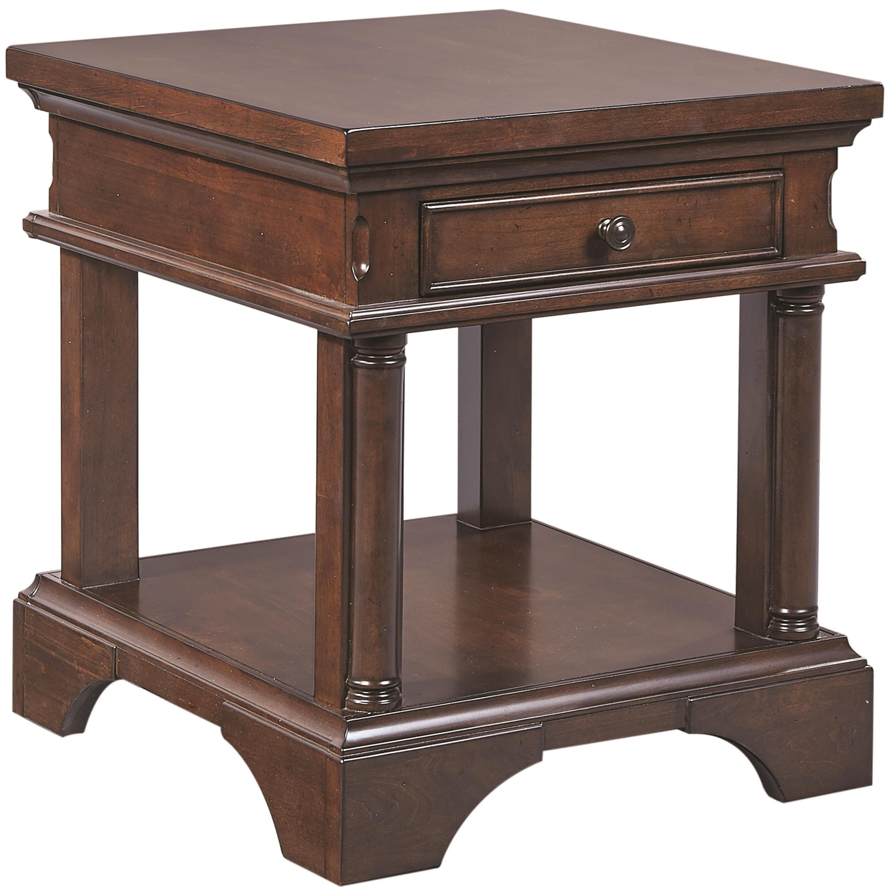 Aspenhome Bancroft End Table with Power - Item Number: I08-9140
