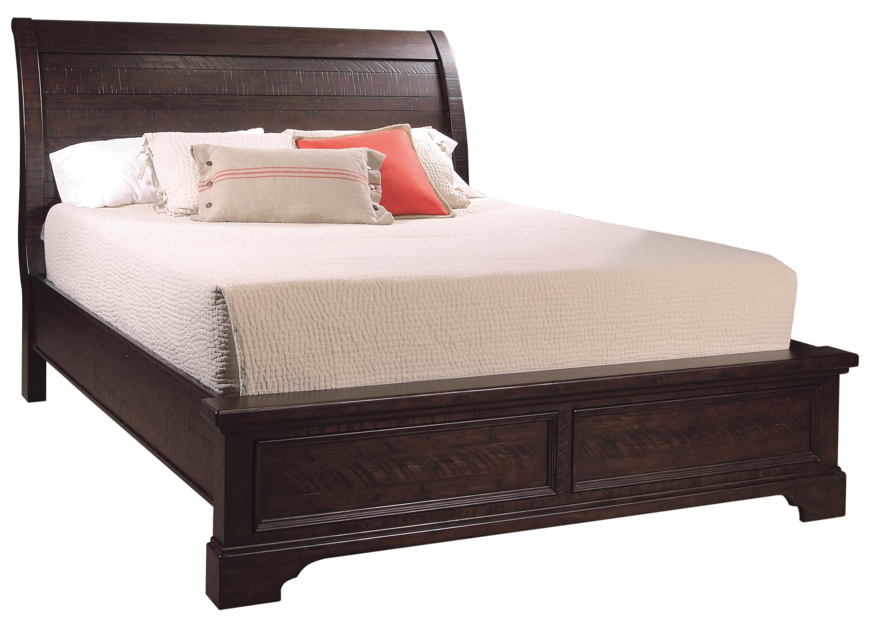 Aspenhome Bayfield California King Sleigh Bed - Item Number: I70-404-DK-407-410