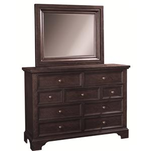 Morris Home Furnishings Burlington Chesser & Mirror Combo