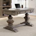 Aspenhome Belle Maison Double Pedestal Desk - Item Number: I94-360TS+IUAB-301-1