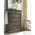 Aspenhome Belle Maison 5 Drawer Chest with Pullout Rod