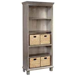 Aspenhome Preferences Bookcase with Baskets