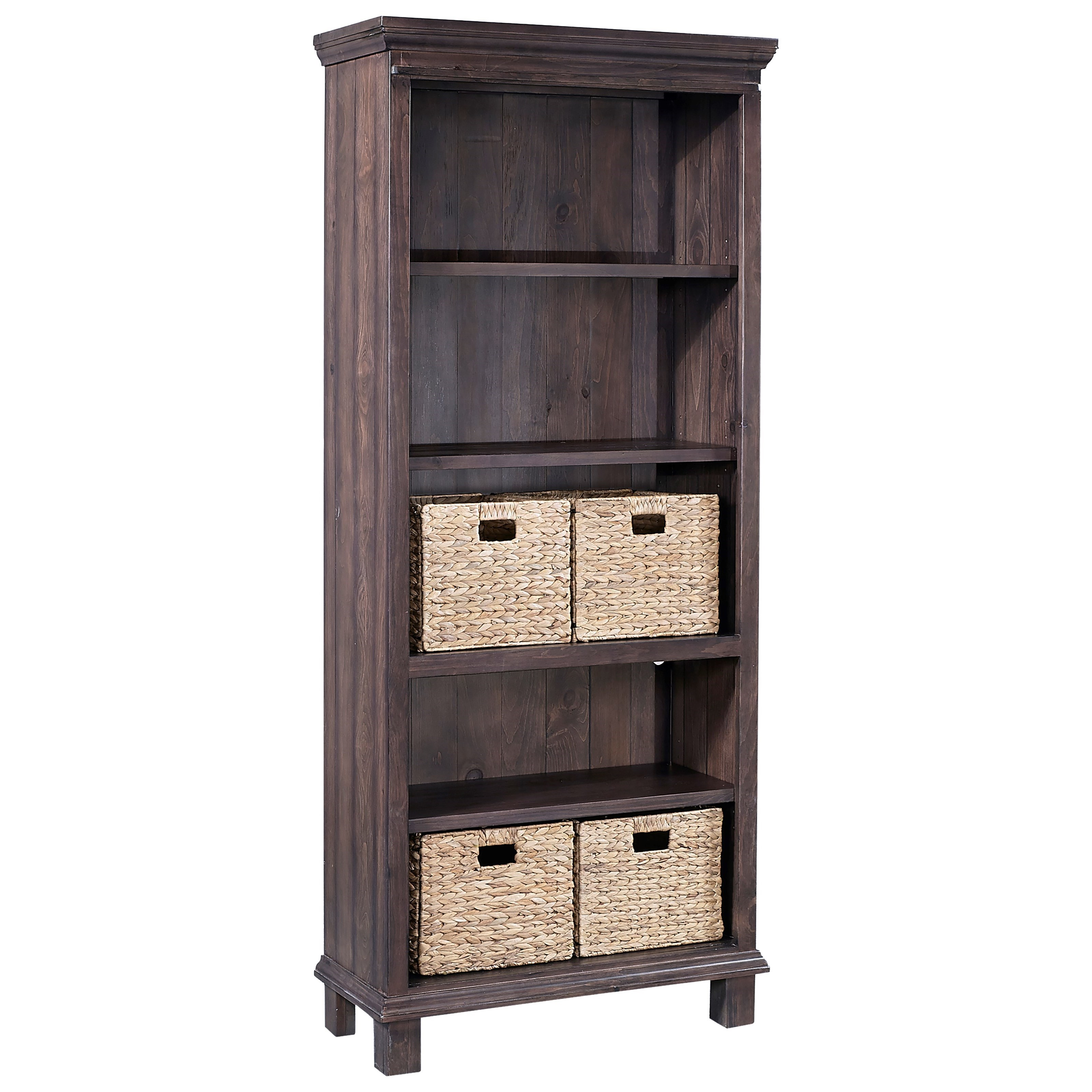 Bookcase with Baskets