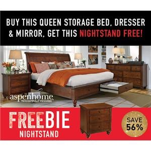 Clinton Queen Bed Package with Freebie!