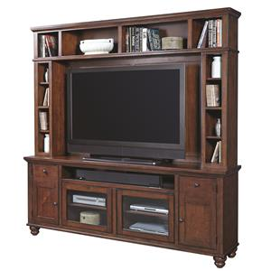 "Morris Home Furnishings Clinton Clinton 85"" Console & Hutch"