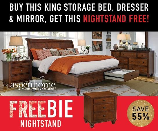 Clinton Clinton King Bedroom Package with Freebie! by Aspenhome at Morris Home