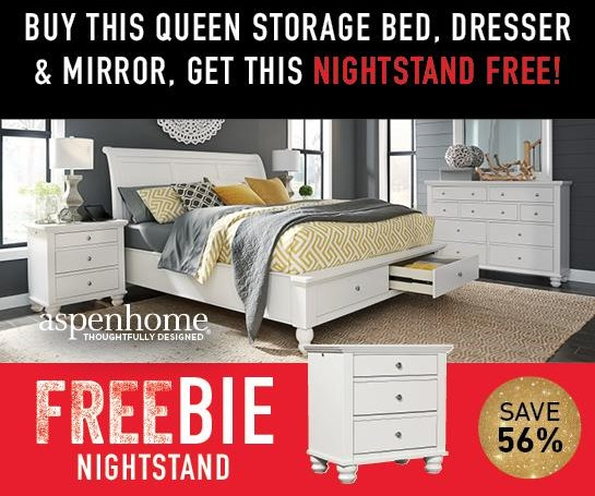 Cambridge CB Clinton Queen Bed Package with Freebie! by Aspenhome at Morris Home