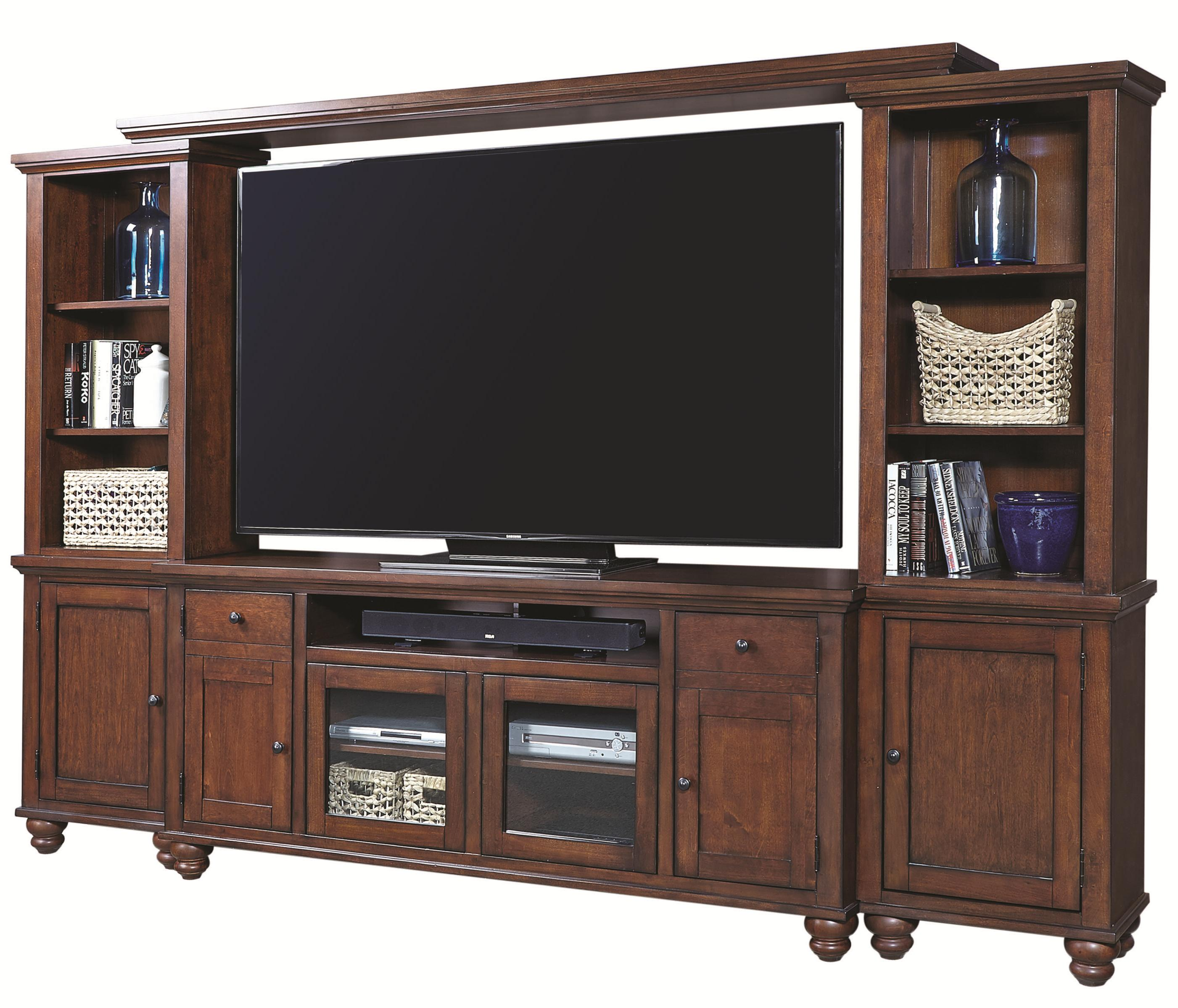 "Aspenhome Cambridge 75"" Entertainment Wall - Item Number: ICB-272+210+225+229-BCH"