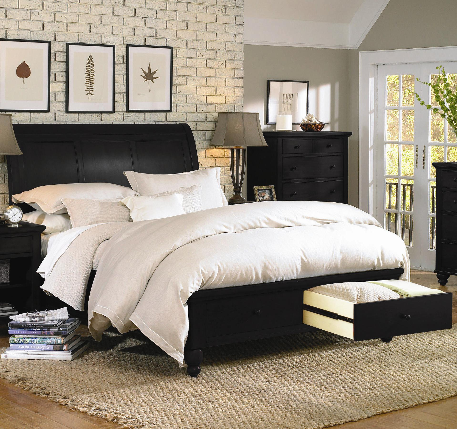 Aspenhome Cambridge Queen Storage Bed - Item Number: ICB-400+403D+402L-BLK