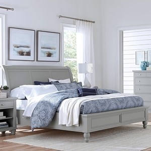 Aspenhome Cambridge Queen Sleigh Bed