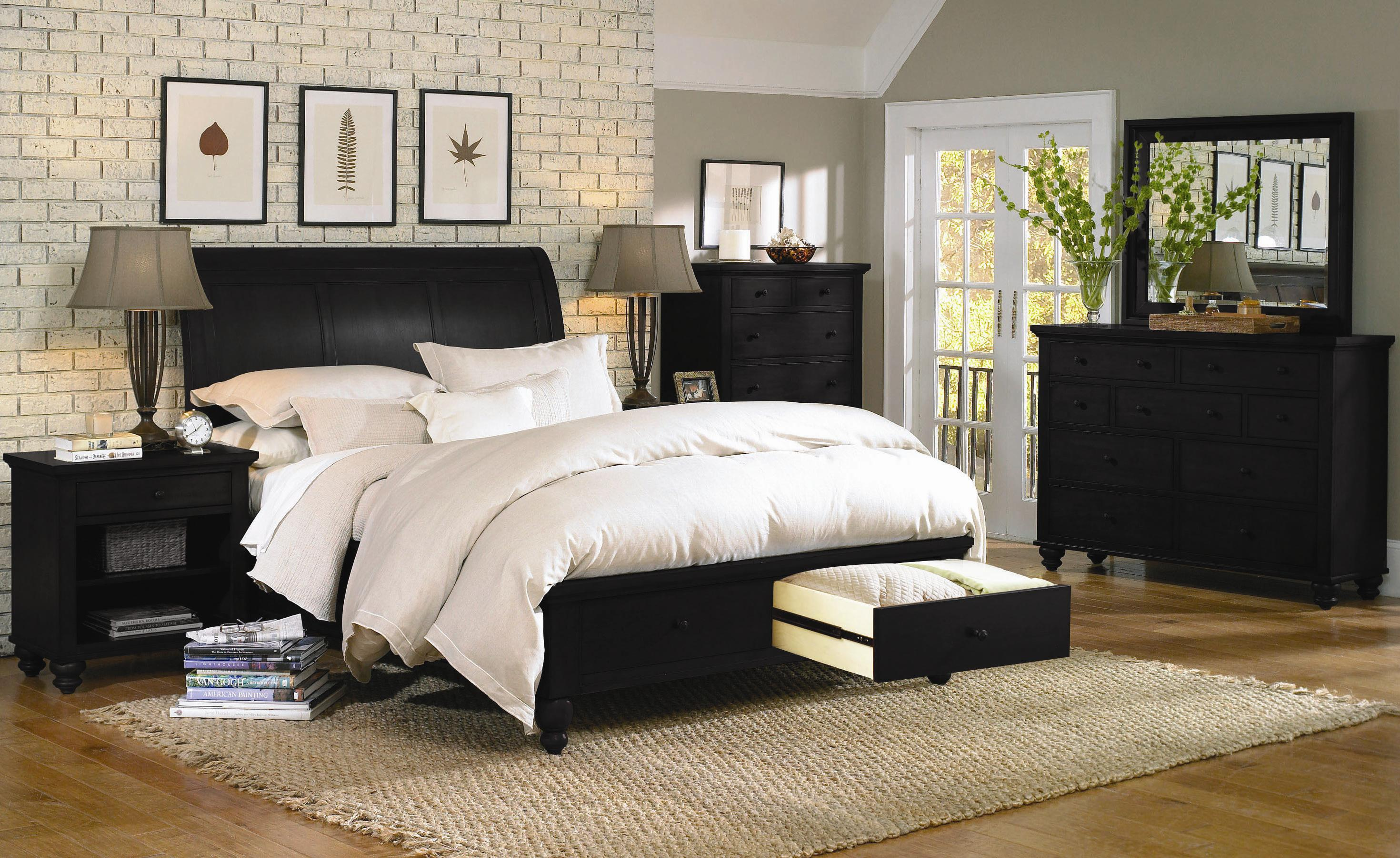 Aspenhome Cambridge King Size Bed With Sleigh Headboard
