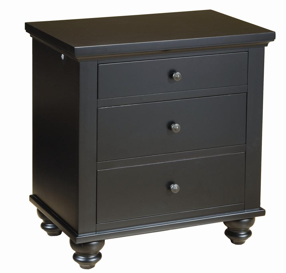 Aspenhome Cambridge Liv360 Night Stand - Item Number: ICB-450-BLK