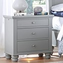 Aspenhome Cambridge Liv360 Night Stand - Item Number: ICB-450-GRY-3