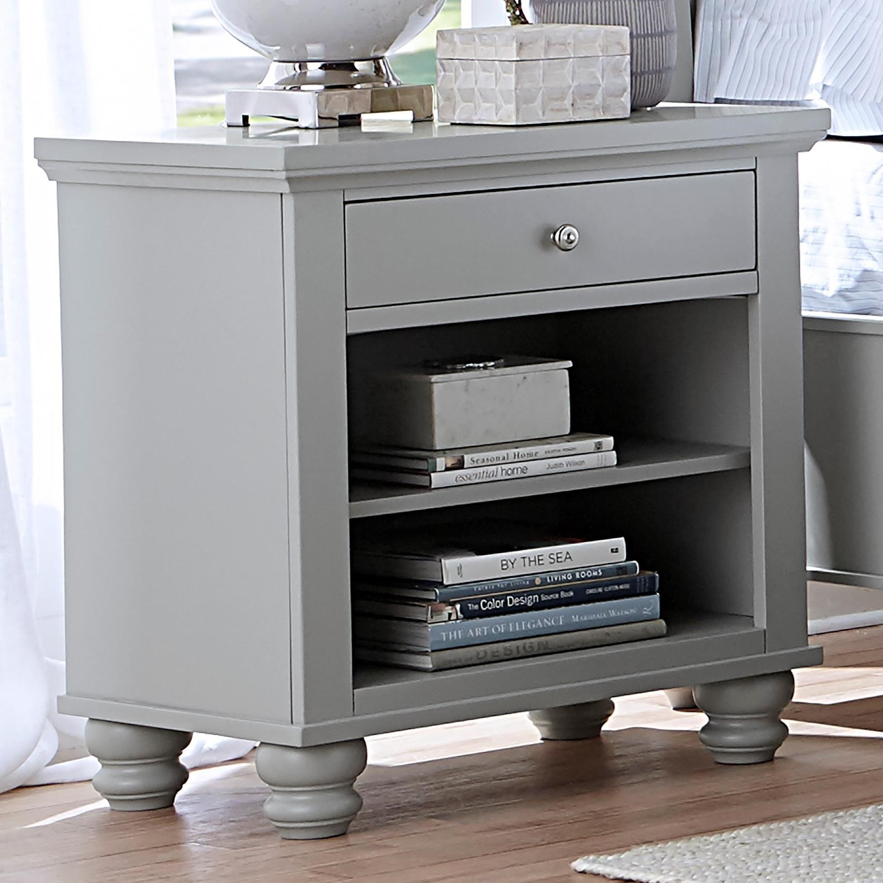 Cambridge One Drawer Night Stand With Two Shelves By Aspenhome At Dean Bosler S