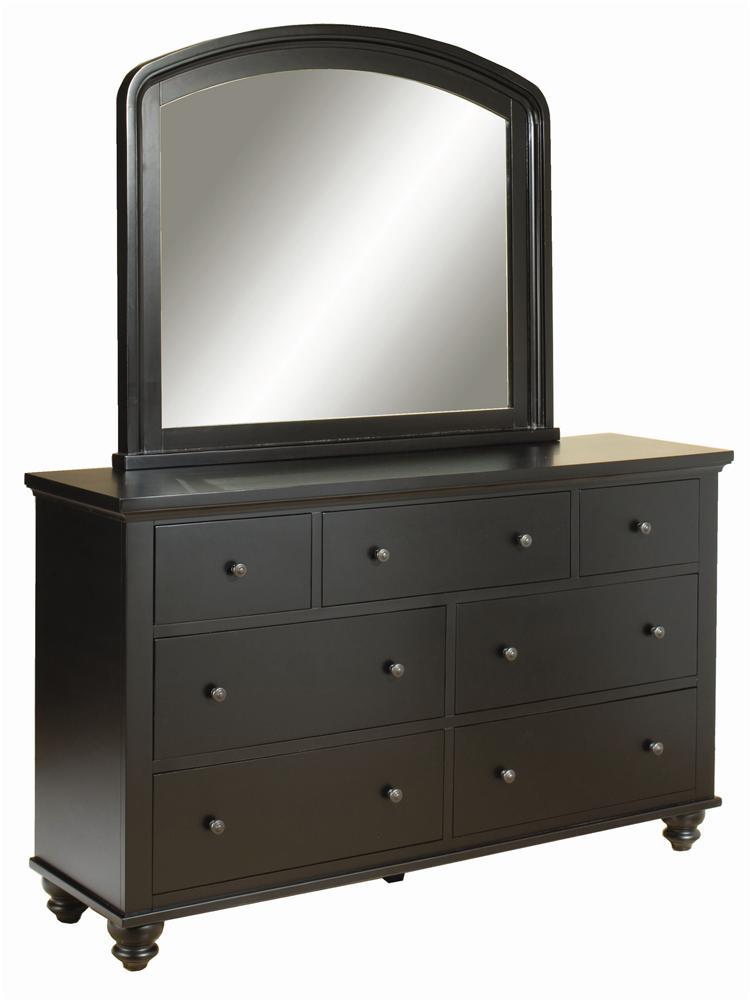 Aspenhome Cambridge Double Dresser & Mirror Combo - Item Number: ICB-454+462-BLK
