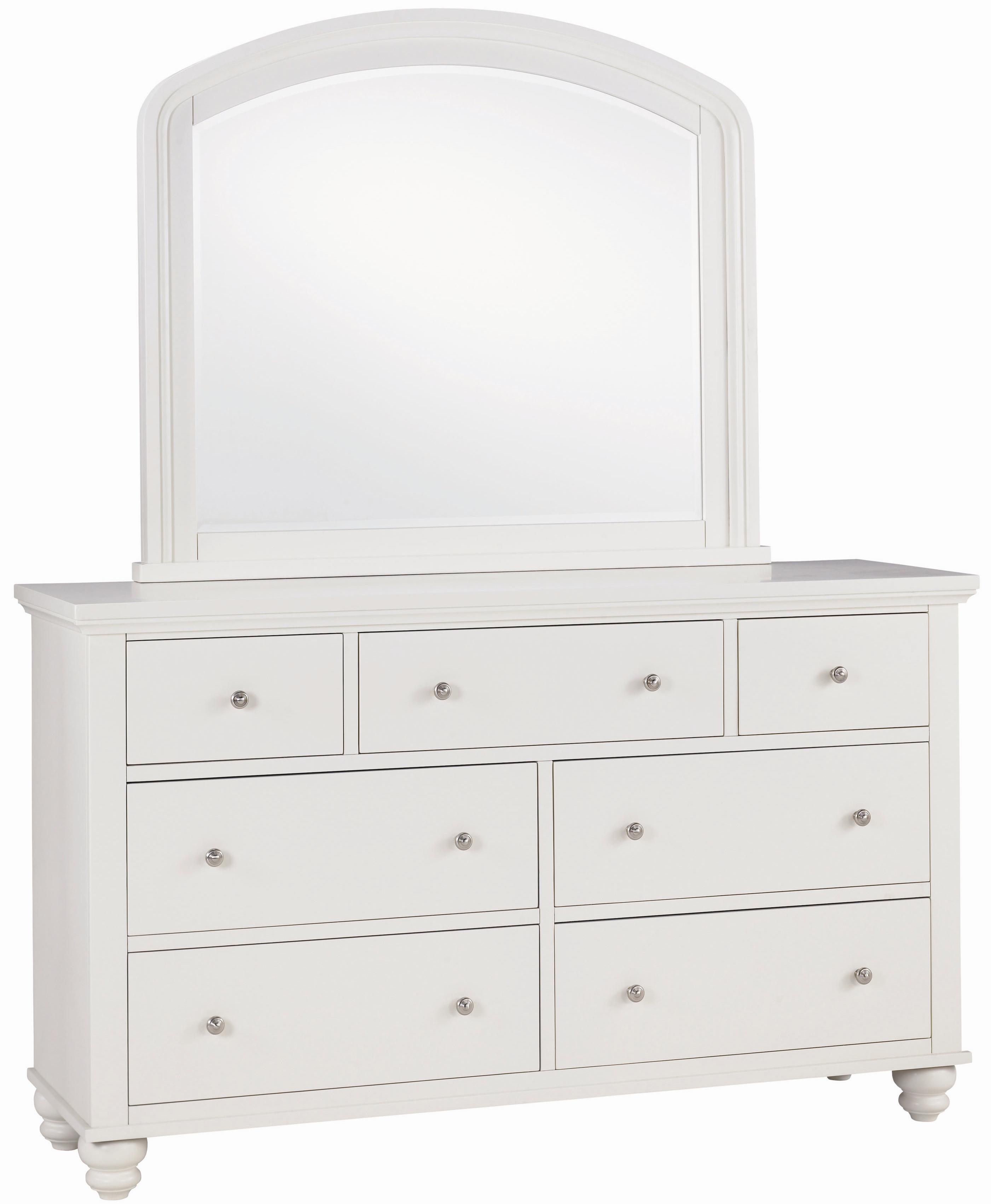 Aspenhome Cambridge Double Dresser & Mirror Combo - Item Number: ICB-454+462-EGG