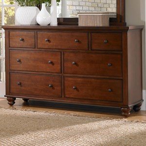 7 Drawer Double Dresser