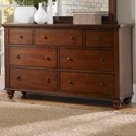 Aspenhome Cambridge 7 Drawer Double Dresser  - Item Number: ICB-454-BCH-4