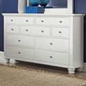 Aspenhome Cambridge 7 Drawer Double Dresser  - Item Number: ICB-454-EGG-4