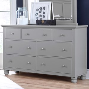 Aspenhome Cambridge 7 Drawer Double Dresser