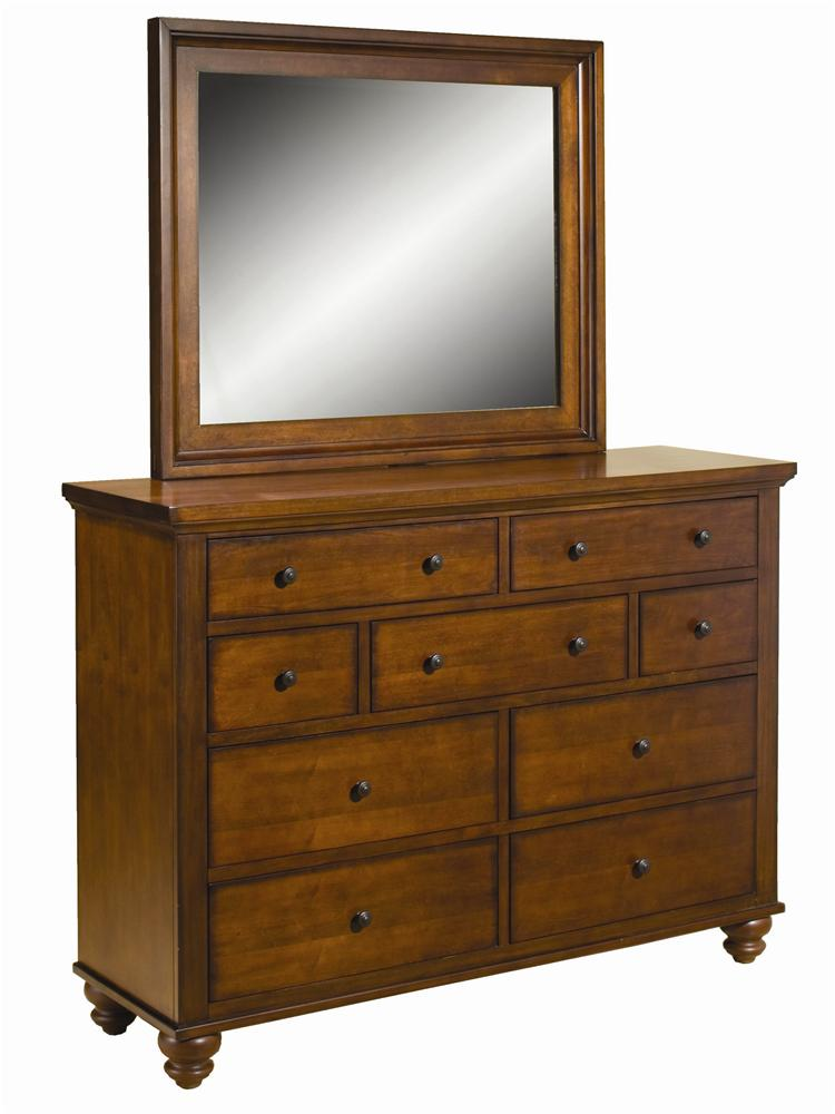 Cambridge Chesser & Mirror Combo by Aspenhome at Stoney Creek Furniture