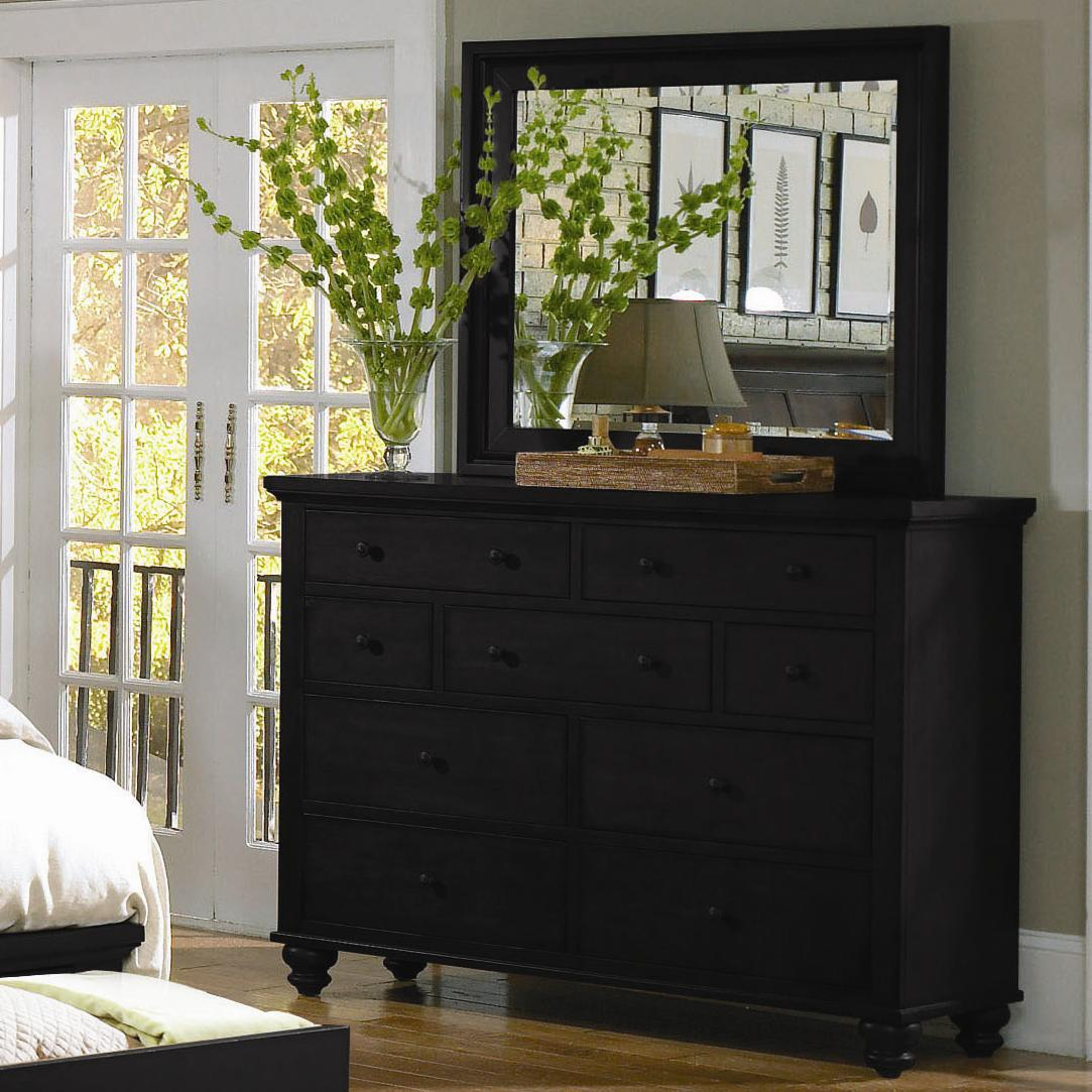 Aspenhome Cambridge Chesser & Mirror Combo - Item Number: ICB-455+463-BLK