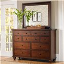 Aspenhome Cambridge 9-Drawer Chesser - Shown with Chesser Mirror