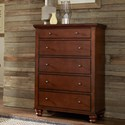 Aspenhome Clinton 5 Drawer Chest  - Item Number: ICB-456-BCH-4