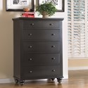 Aspenhome Cambridge 5 Drawer Chest  - Item Number: ICB-456-BLK-4