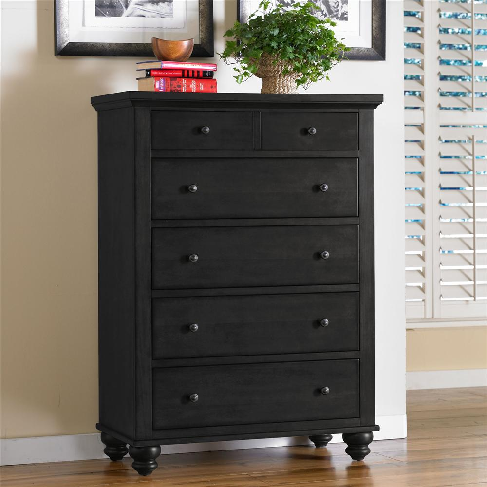 Aspenhome Cambridge 5-Drawer Chest - Item Number: ICB-456-BLK